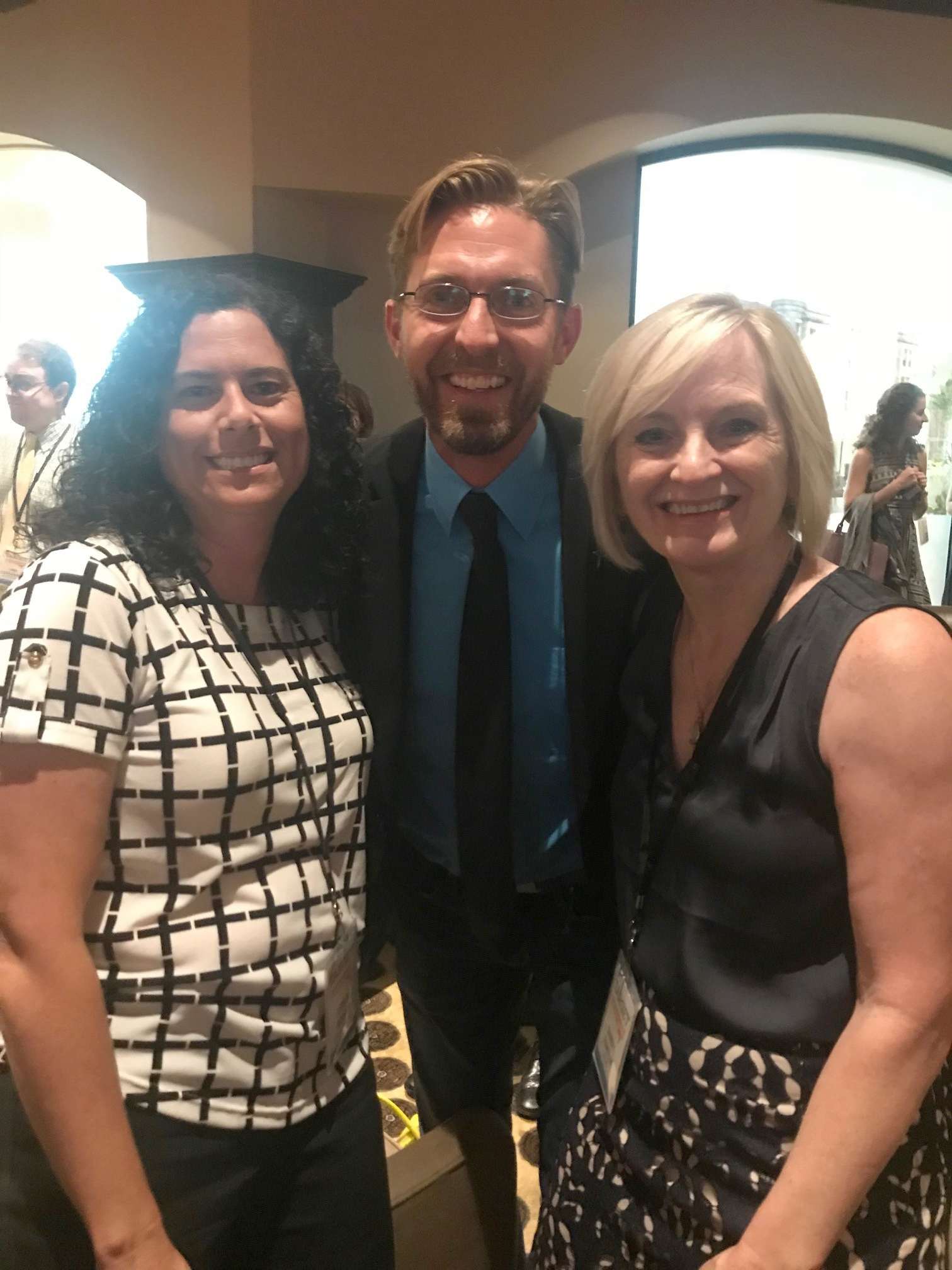 The conference is a great opportunity to network with colleagues from other schools. Leslie Berger and Kevin Miller caught up with Sandy Pantlik from OSU OKC.