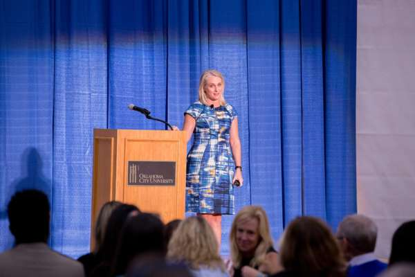 Piper Kerman speaking to the OKC community.