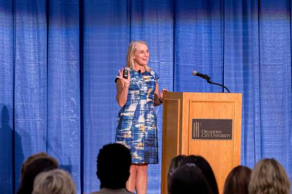 Piper Kerman talks to OKC community about incarceration and criminal justice reform.