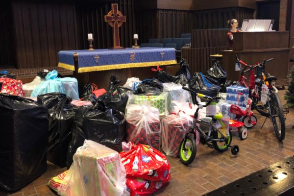 Gifts donated to Skyline Christmas Grace by OCU students, faculty and staff.