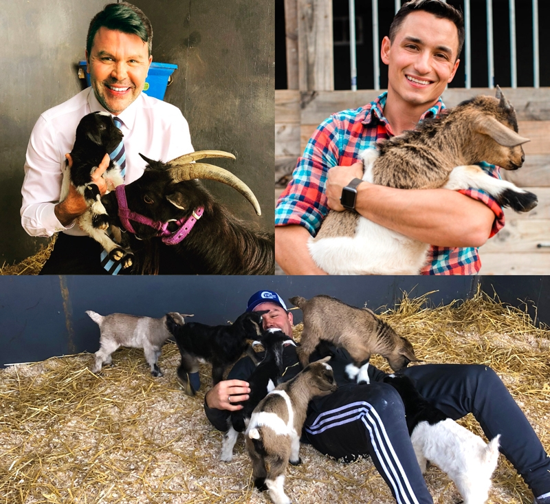 Jim, Phillip and the baby goats.