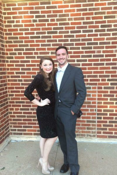 Zack Travers and Virginia Newsome-Travers dressed up for a formal event