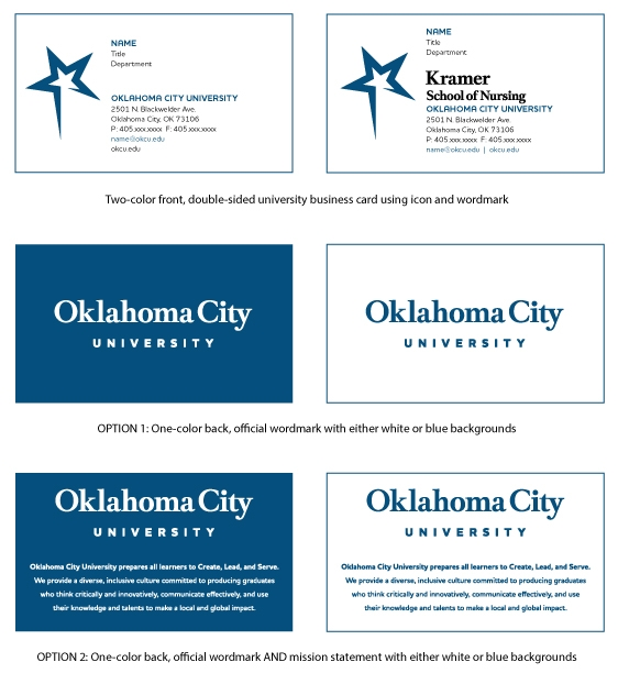 Business cards oklahoma city university business cards reheart Gallery