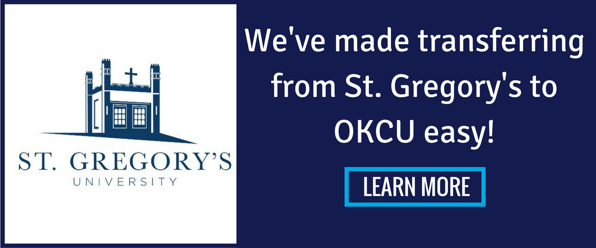 We've made transferring from St. Gregory's to OKCU easy! Learn more.