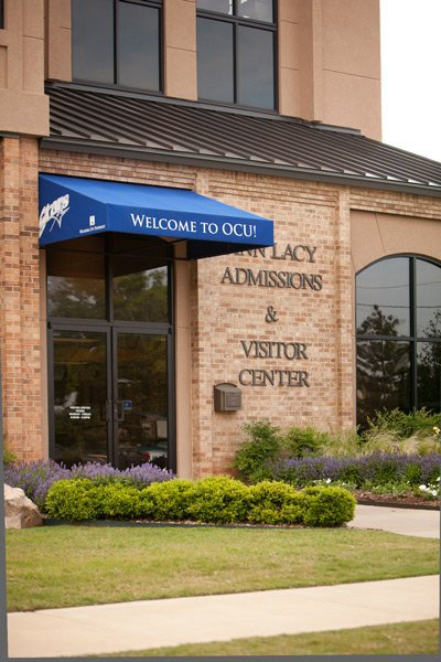 The Ann Lacy Visitor Center on the OCU Campus, where the Office of Advancement is housed.