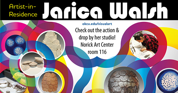 Artist in residence Jarica Walsh - check out the action and drop by her studio! Norick art center room 116