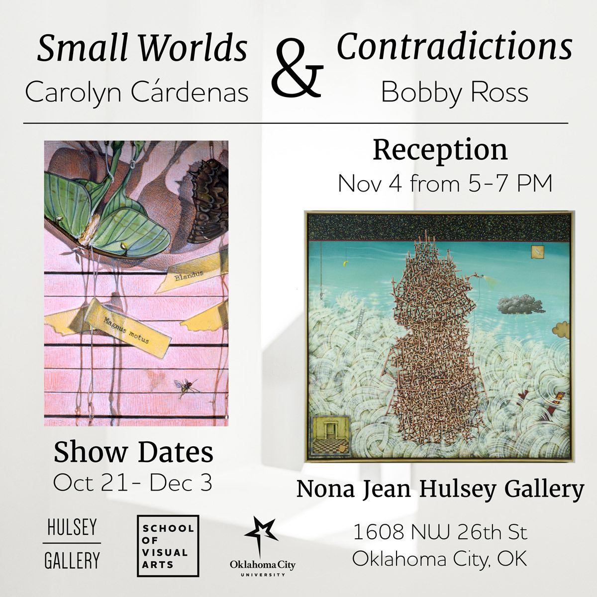 show card for exhibit - information included in text