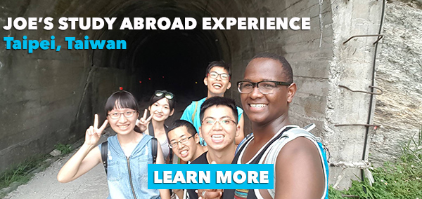 learn more about Joe's study abroad experience in Taipei, Taiwan