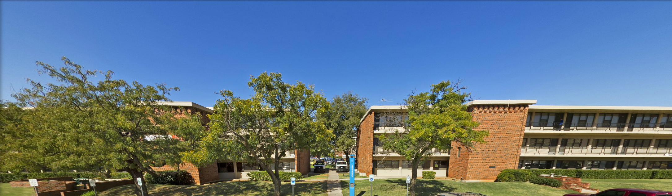 An exterior shot of the Harris and Draper residence halls at OKCU.