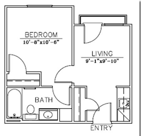 Floor plans for Methodist Hall student apartments