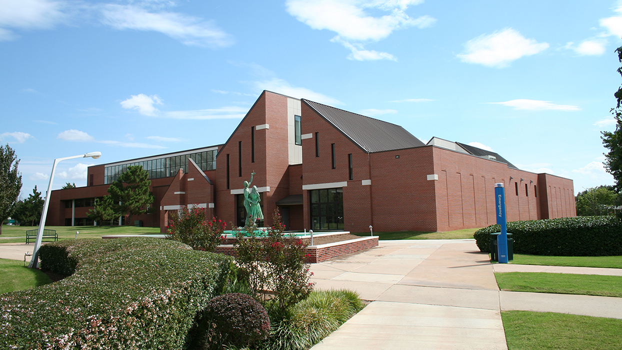 The North facade of the Ann Lacy Center for Dance & Entertainment