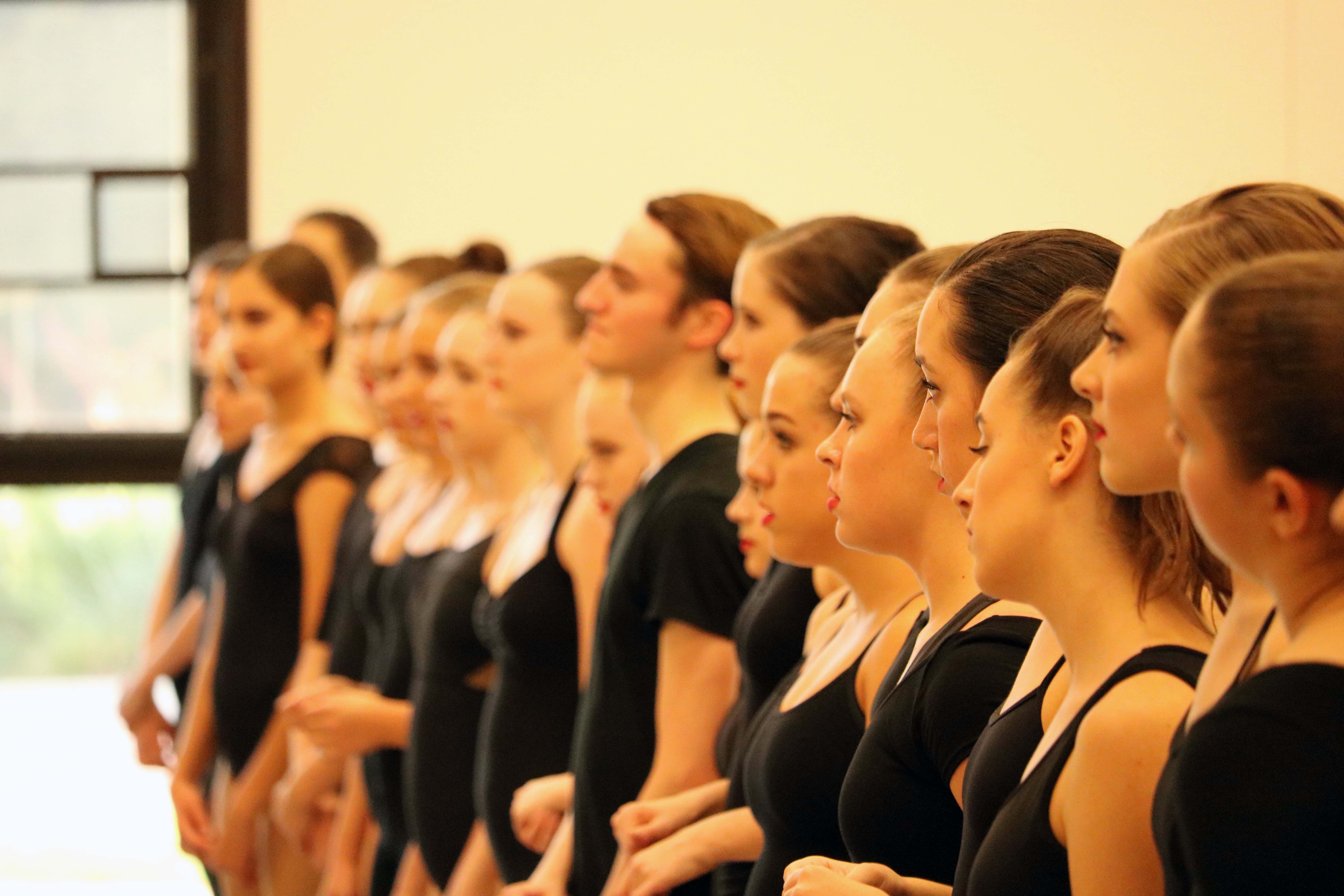 Broadway bound students listen to an instructor