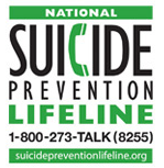 Suicide Prevention Lifeline: 1-800-273-8255 - suicideprevention.org