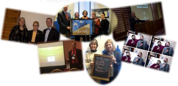 A collage of CETL events
