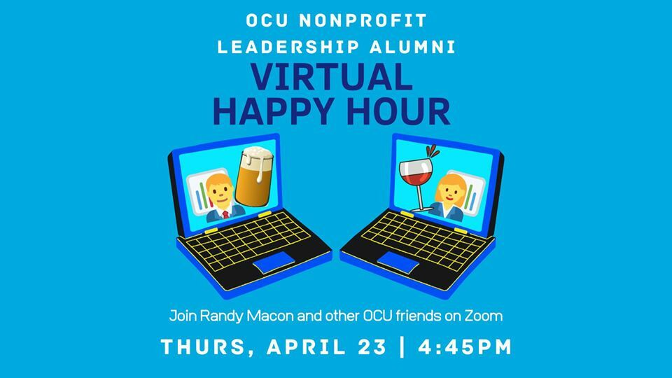 Biology Happy Hour - Join Randy Macon and other OCU friends on Zoom. Thursday, April 23, 4:45 p.m.
