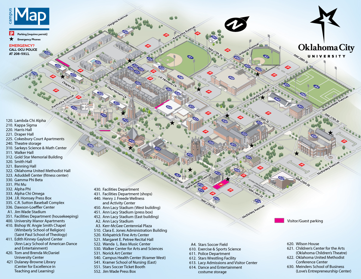 Map  Oklahoma City University