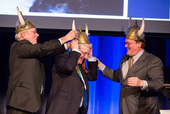 Much Ado About Robert with viking hat