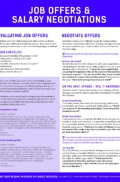 Job Offers & Salary Negotiation Tips