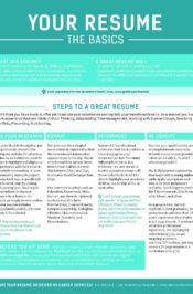 Resume Tip Sheet