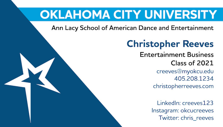 Student Business Card Program Oklahoma City University