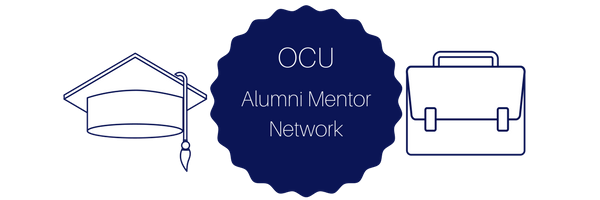 OCU Alumni Mentor Network (Image with graduation cap and briefcase)