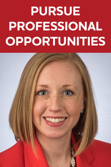 Photo of Ashleigh Sorrell Rose (Text: Pursue Professional Opportunities