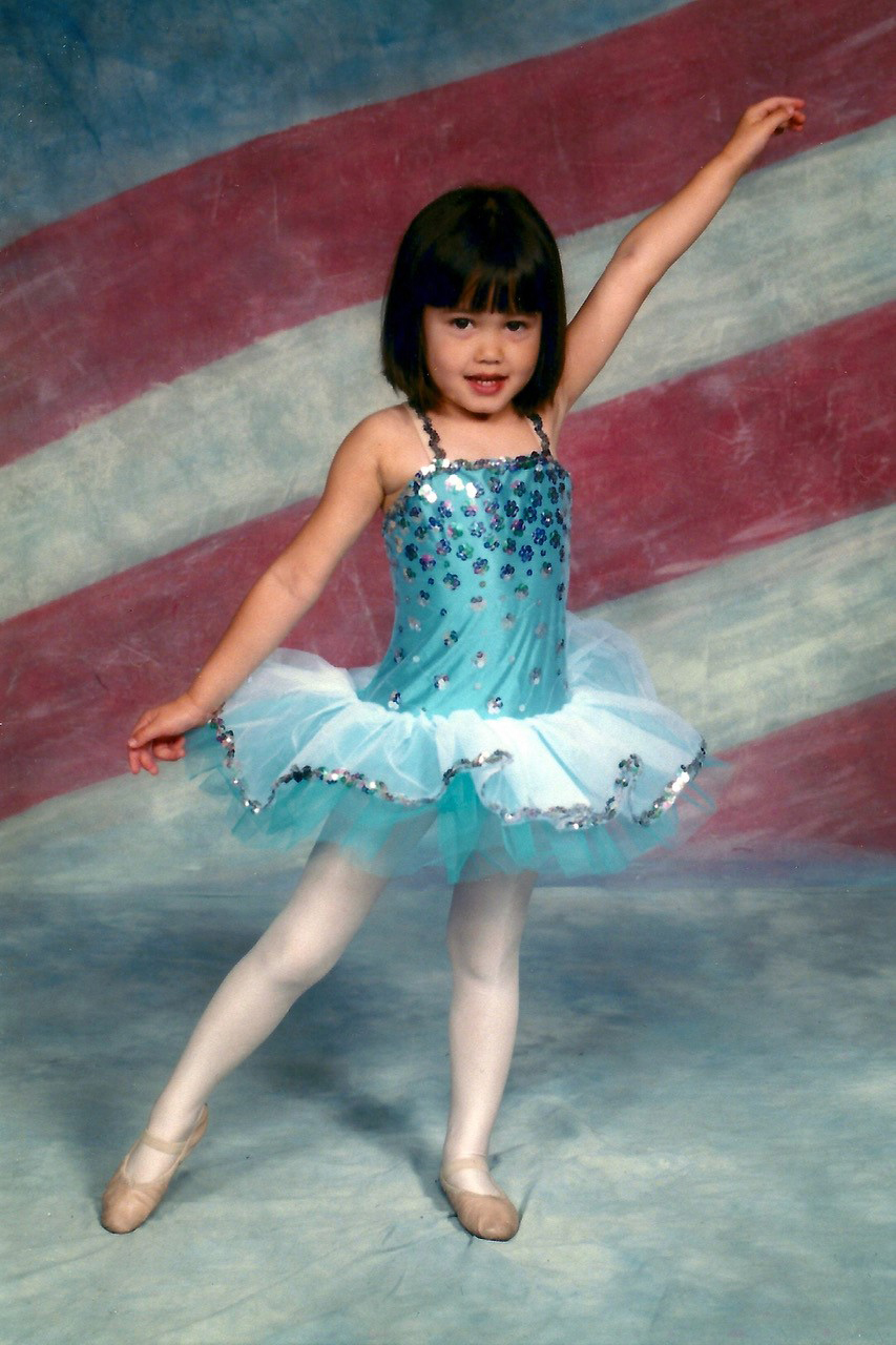 Ashley as a young dancer