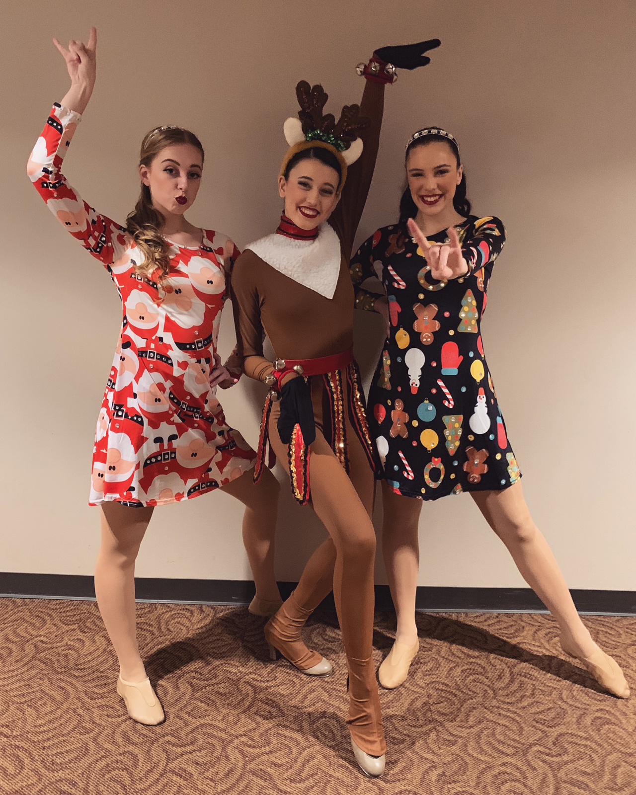 Ashley Ellis as a reindeer for a dance performance
