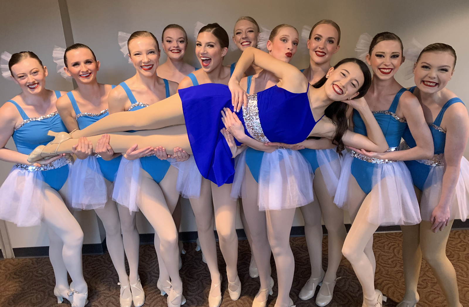 Ashley Ellis with other dancers