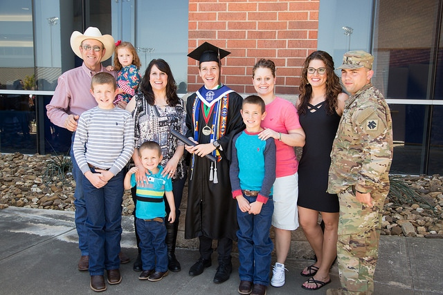Brandon Doyle and family at commencement