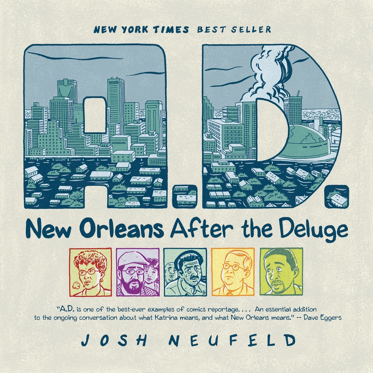 "The cover of ""New Orleans After the Deluge"" by Josh Neufeld"